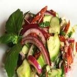 Овощной салат с томатной пастой