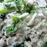 Салат из сельдерея, с вишней