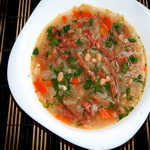 Суп фасолевый с колбасой, по-польски