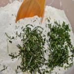 Яичный салат с пряными травами