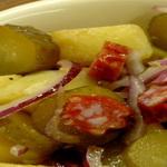 Охотничьи колбаски с отварными овощами