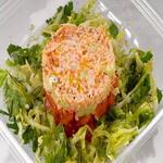 Салат из консервированного лосося, по-латвийски