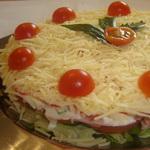 Овощной салат-торт