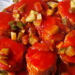 Салат из скумбрии, по-пражски