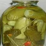 Кабачки солёные (без стерилизации)