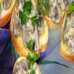 Тосты с сырным соусом (на гриле)