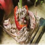 Салат из говядины, по-строгановски