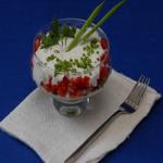 Салат – коктейль с редисом и яйцами