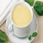 Молочный суп из крупы, протёртый
