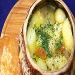 Картофель тушеный со сметаной в горшочке
