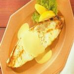 Палтус – гриль, в масле, с горчичным соусом