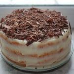 Торт из творожных коржей, с заварным кремом