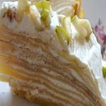 Блинчатый тортик с творожной начинкой