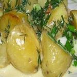 Молодой картофель в сметане