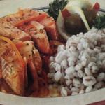 Тушеная рыба, с овощами