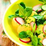 Петров пост. Картофельный салат с редисом