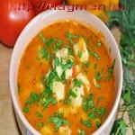 Суп из помидоров с клёцками