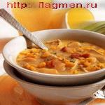 Суп с кукурузой на мясном бульоне