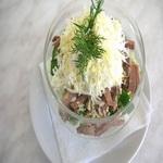 Салат с говяжьим языком и овощами