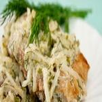 Рыбное филе с сельдереем
