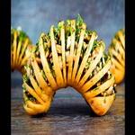 Картофель – гармошка, с шампиньонами