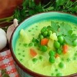 Суп  из молодого горошка
